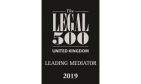 Legal 500 UK - Leading Mediator 2019